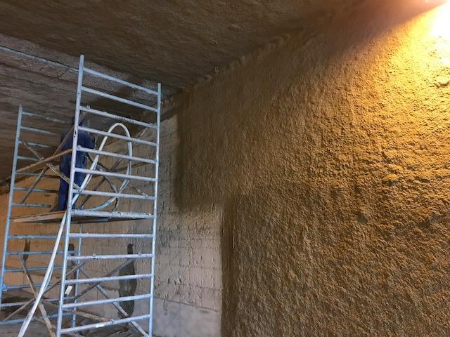 Zabezpieczenie ppoż. ścian i stropu